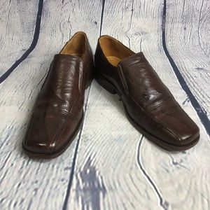 Bostonian brown leather slip on loafers 9D
